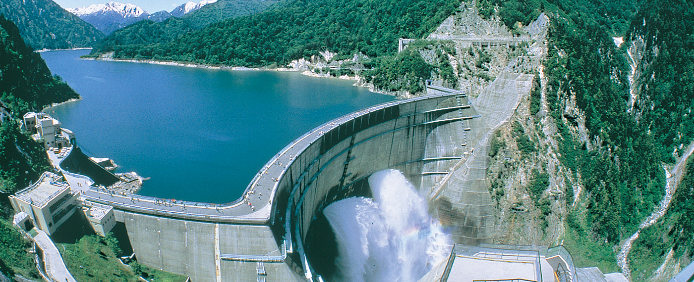 This dam is 186 m tall and 10 cubic meters of water pass through it every second.