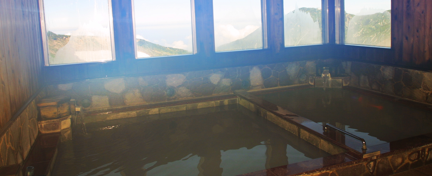 The highest natural hot spring in Japan.