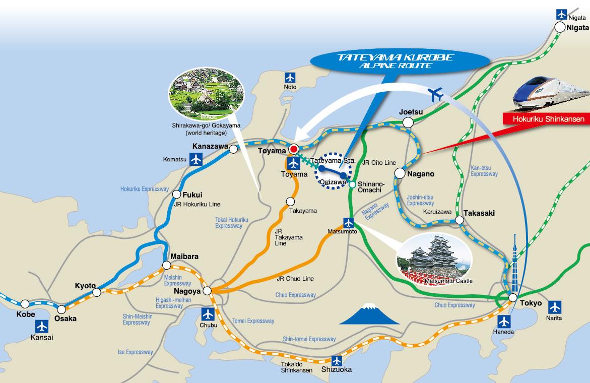 Image result for the tateyama kurobe alpine route